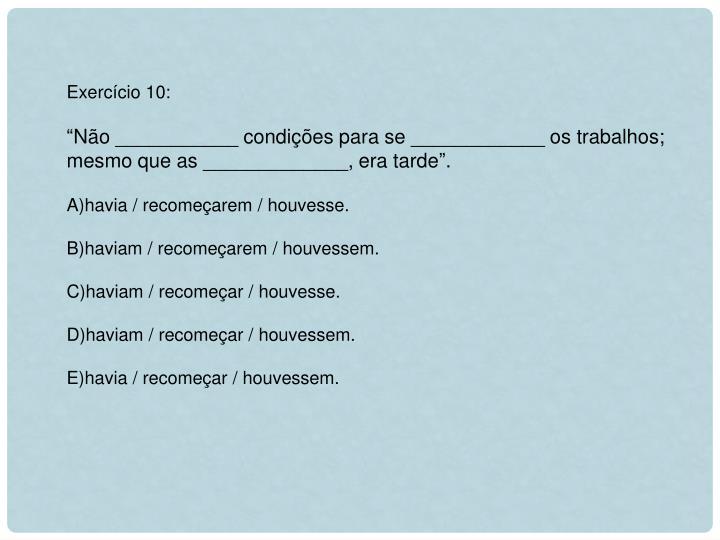 Exercício 10: