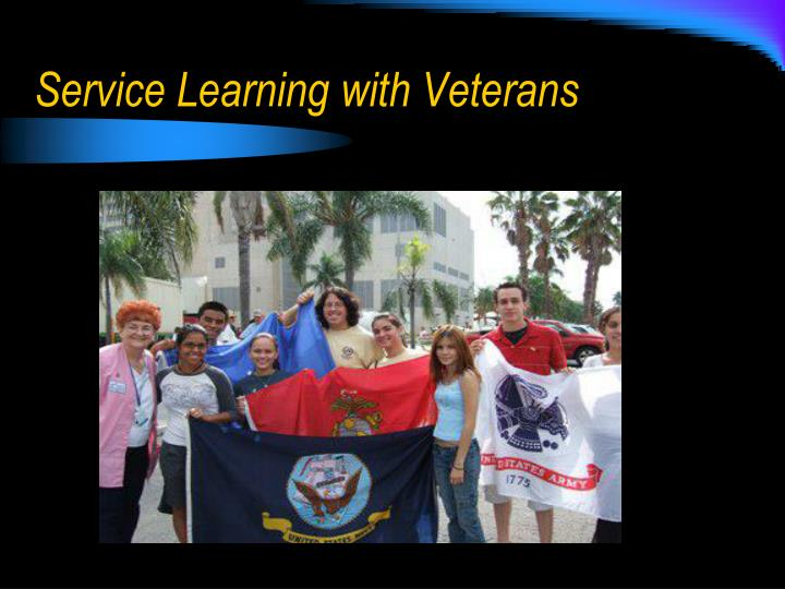 Service Learning with Veterans