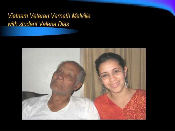 Vietnam Veteran Verneth Melville