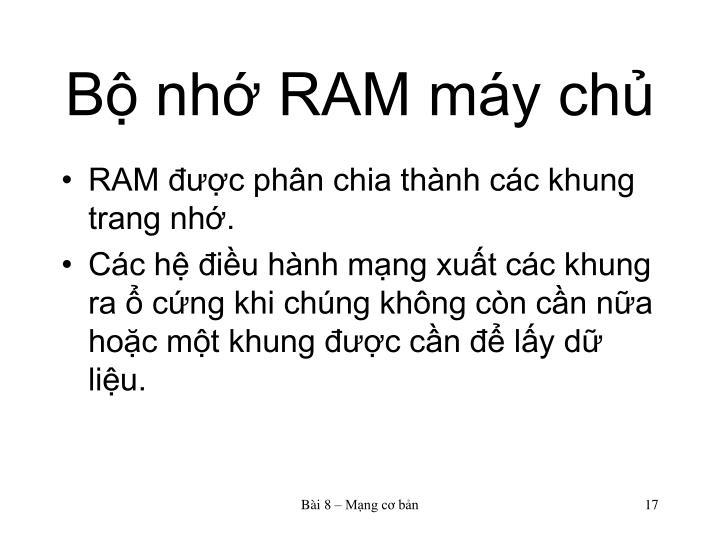 Bộ nhớ RAM máy chủ