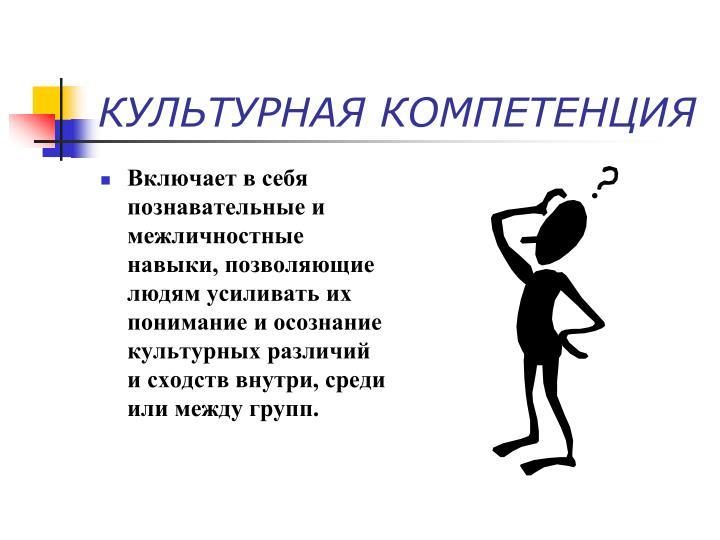 КУЛЬТУРНАЯ КОМПЕТЕНЦИЯ