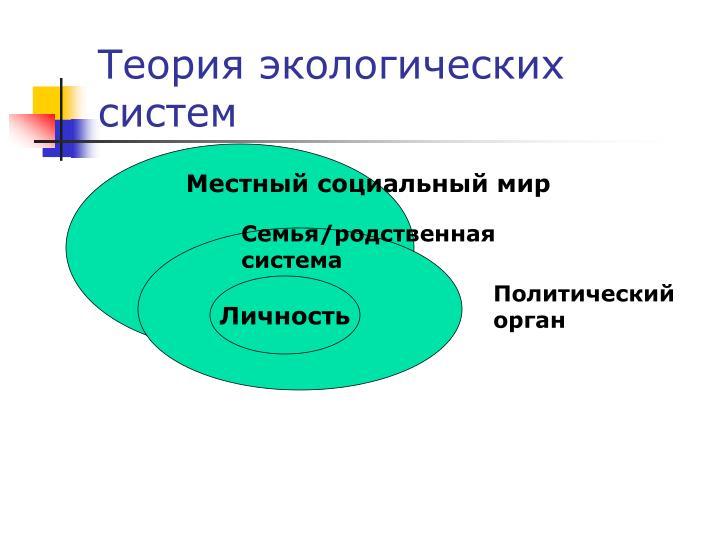 Теория экологических систем