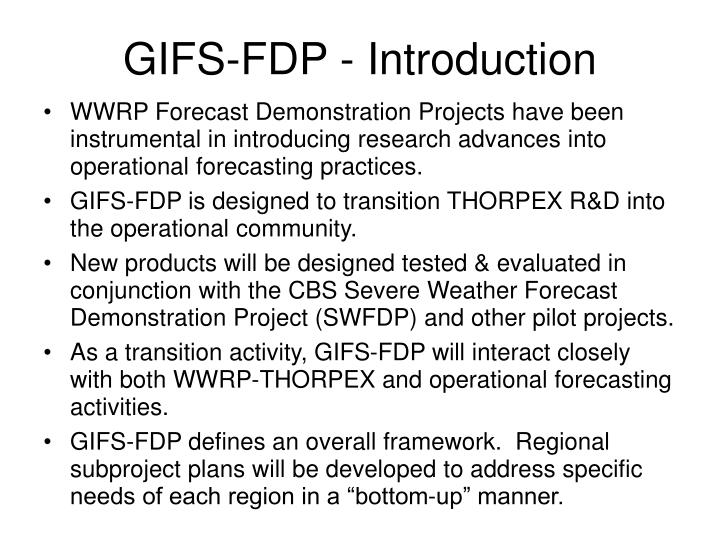 GIFS-FDP - Introduction