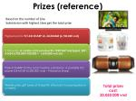prizes reference