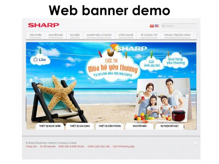 Web banner demo