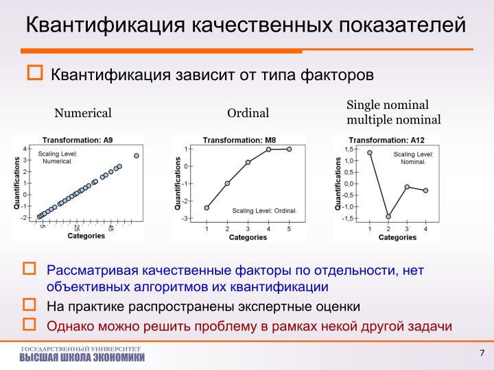 Квантификация качественных показателей