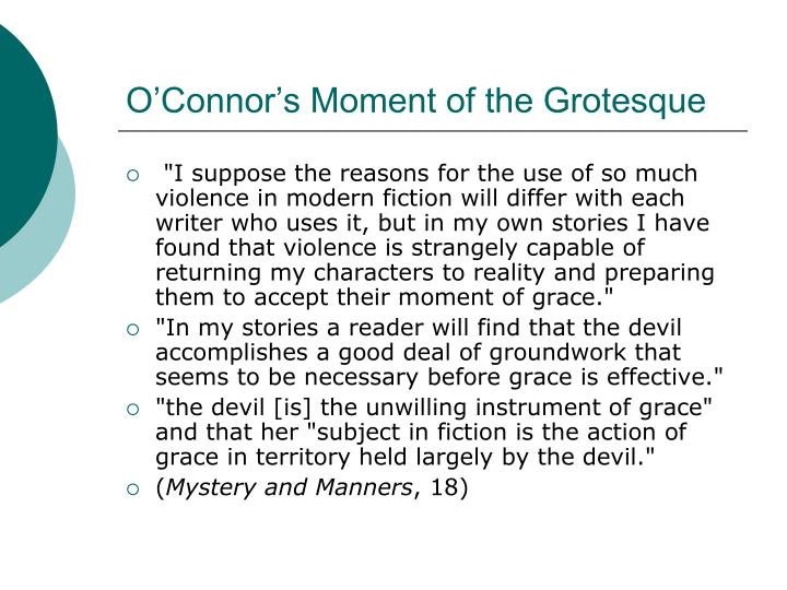 O'Connor's Moment of the Grotesque
