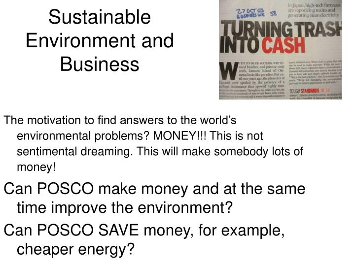 Sustainable Environment and Business