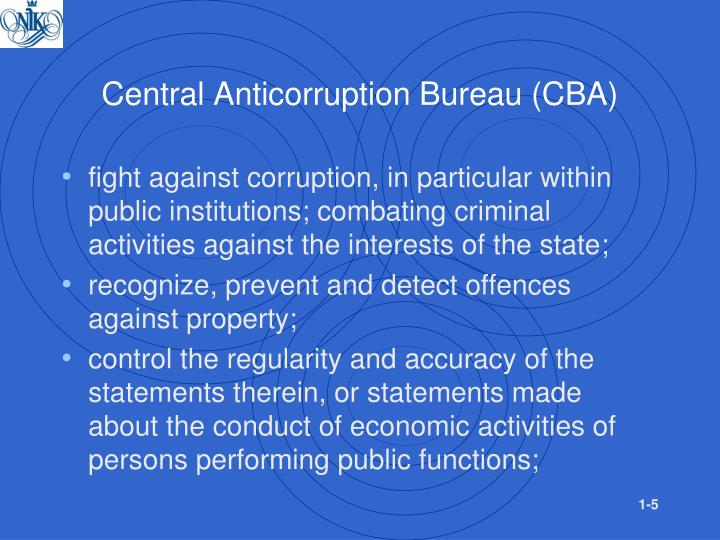 Central Anticorruption Bureau (CBA)
