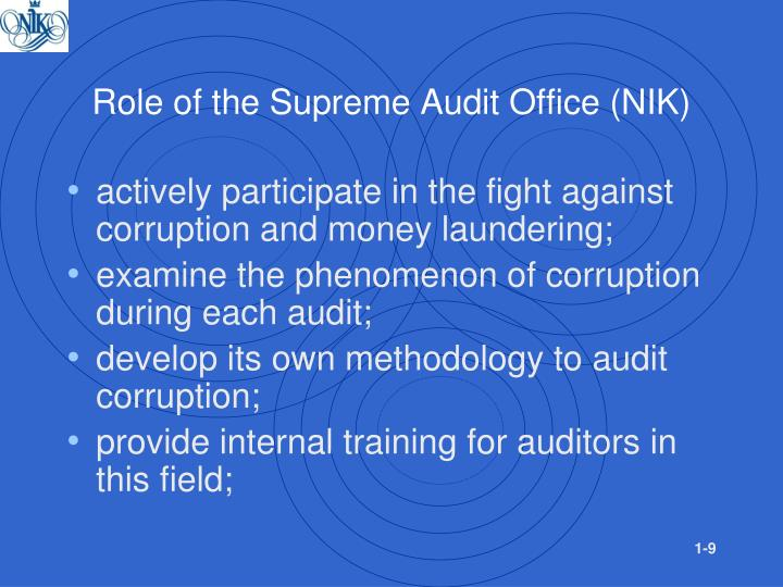 Role of the Supreme Audit Office (NIK)