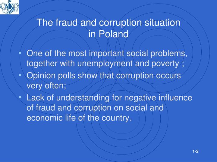 The fraud and corruption situation in poland