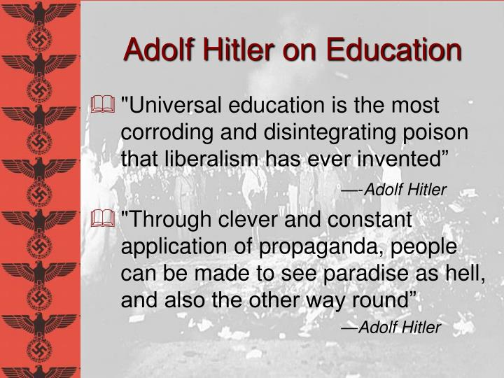 Adolf Hitler on Education