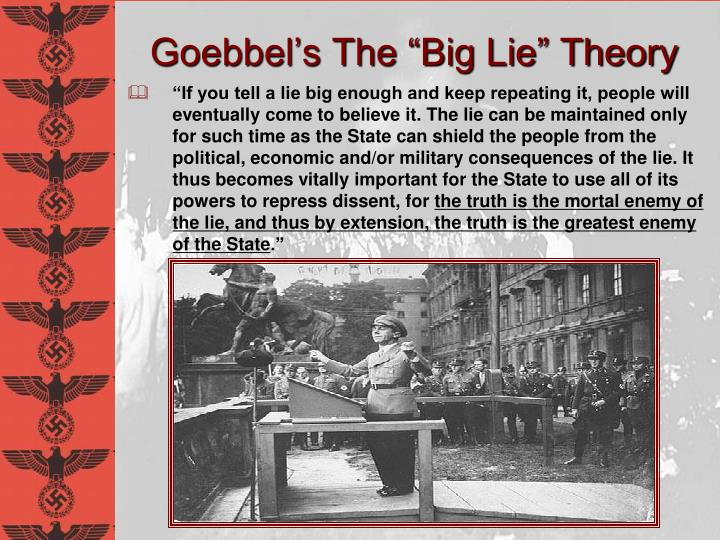 "Goebbel's The ""Big Lie"" Theory"