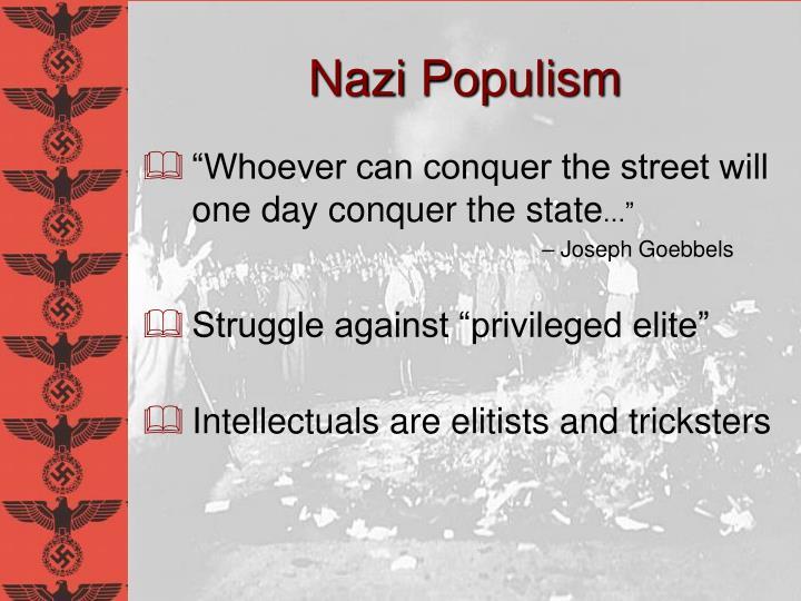 Nazi Populism