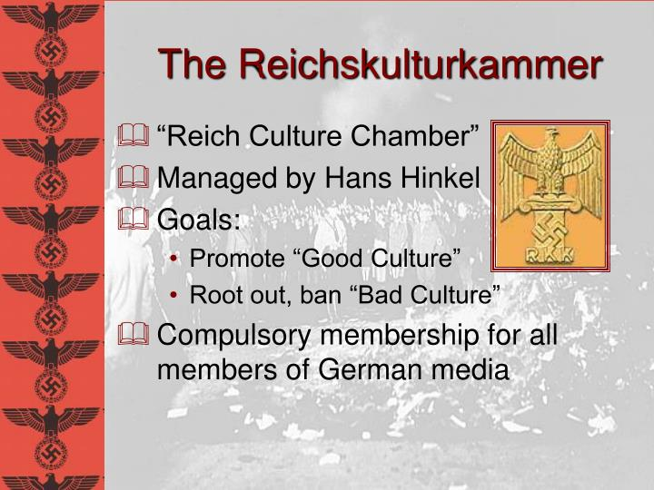 The Reichskulturkammer
