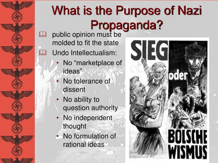 What is the Purpose of Nazi Propaganda?