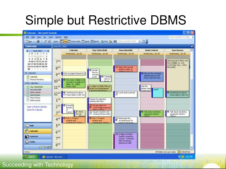 Simple but Restrictive DBMS