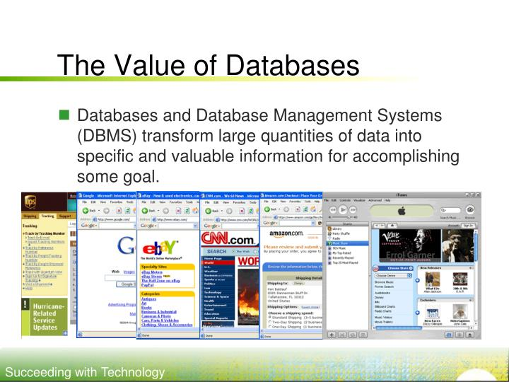 The Value of Databases