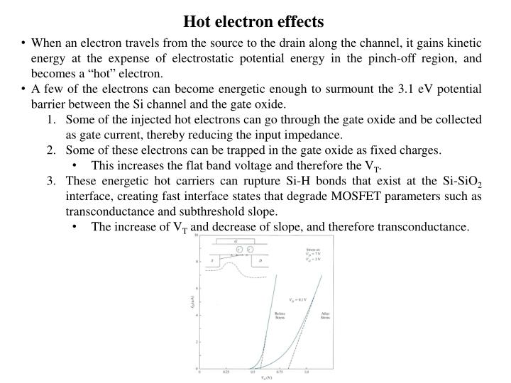 Hot electron effects