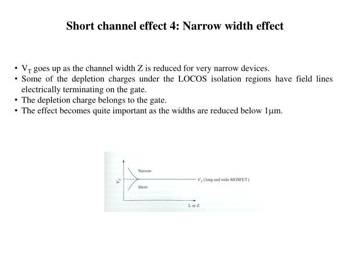 Short channel effect 4: Narrow width effect