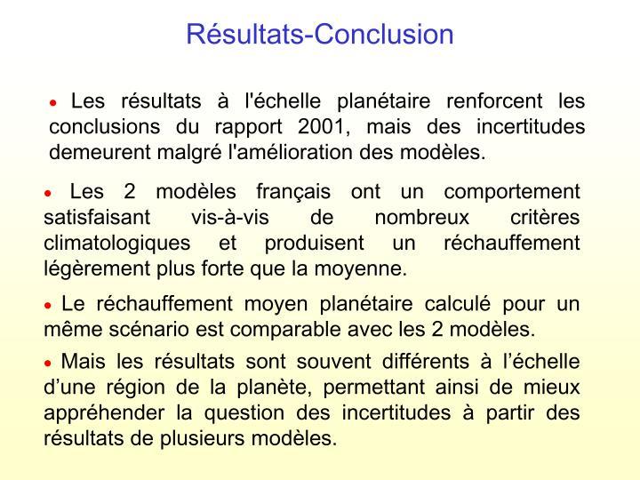 Résultats-Conclusion