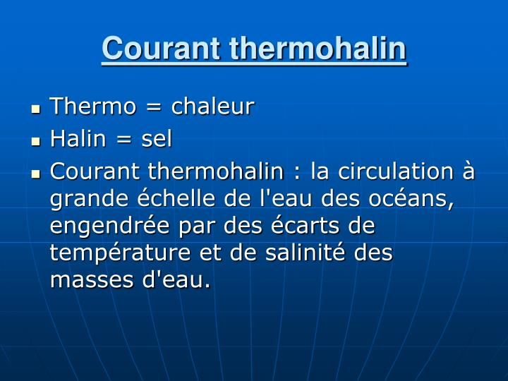 Courant thermohalin