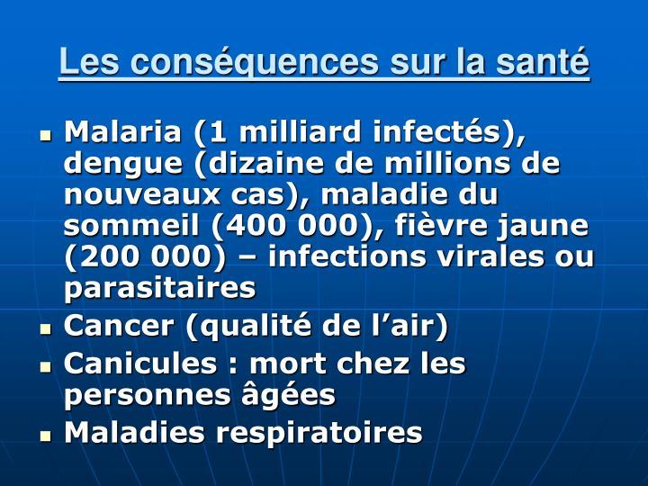 Les conséquences sur la santé