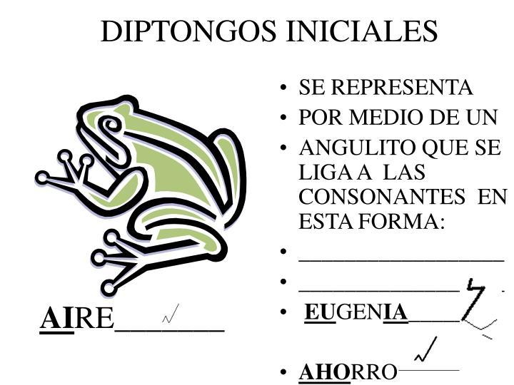 DIPTONGOS INICIALES