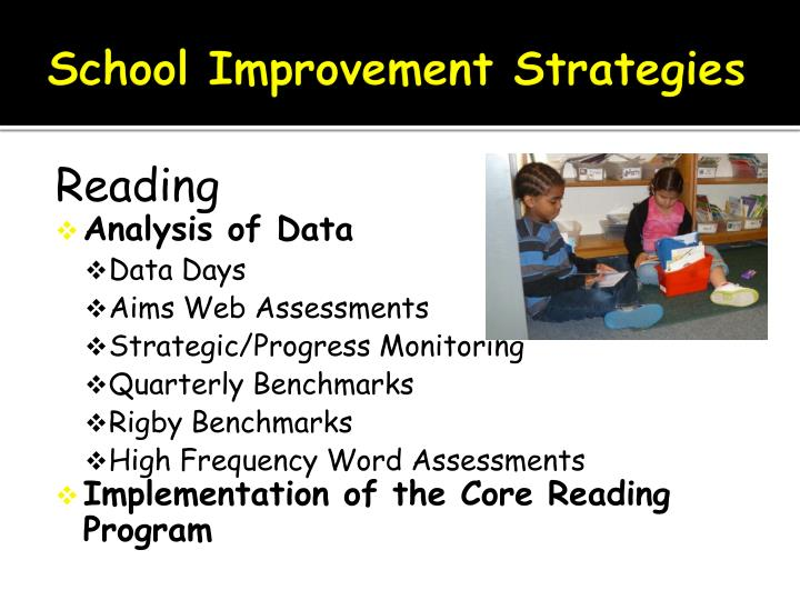 School Improvement Strategies