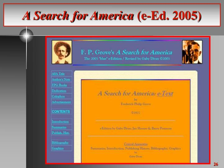 A Search for America
