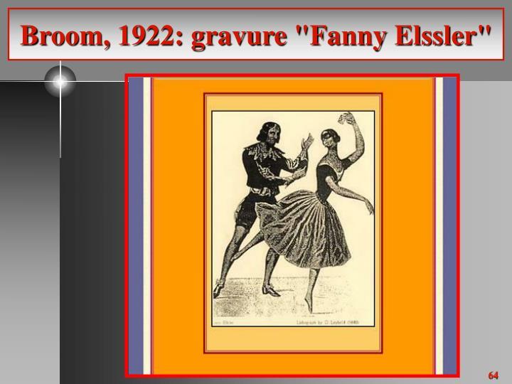 "Broom, 1922: gravure ""Fanny Elssler"""