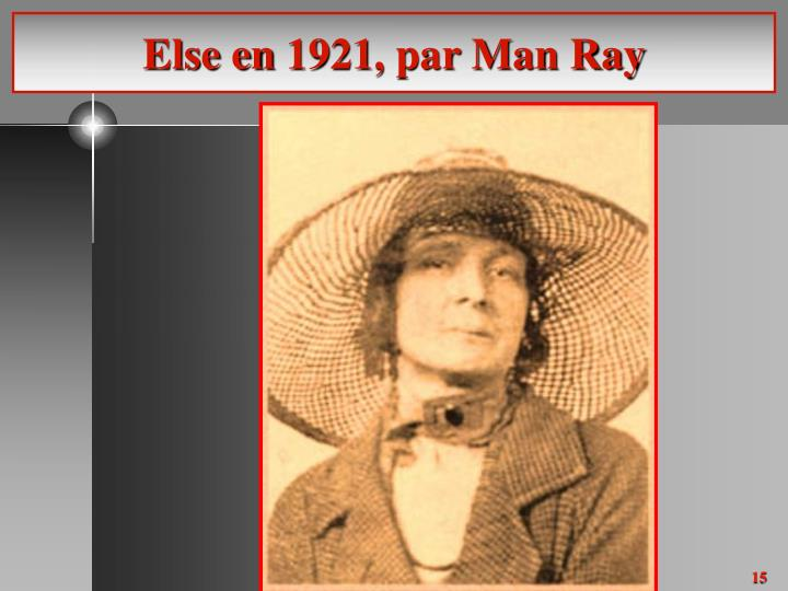 Else en 1921, par Man Ray
