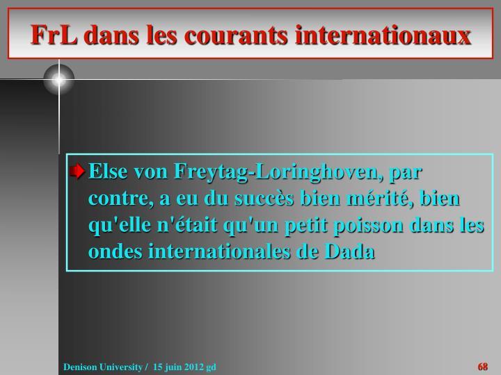 FrL dans les courants internationaux
