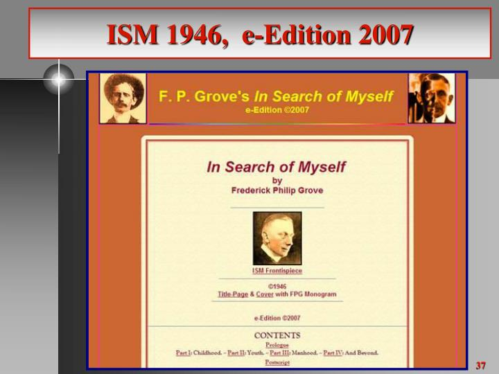 ISM 1946,  e-Edition 2007