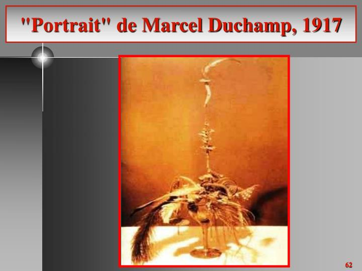 """Portrait"" de Marcel Duchamp, 1917"