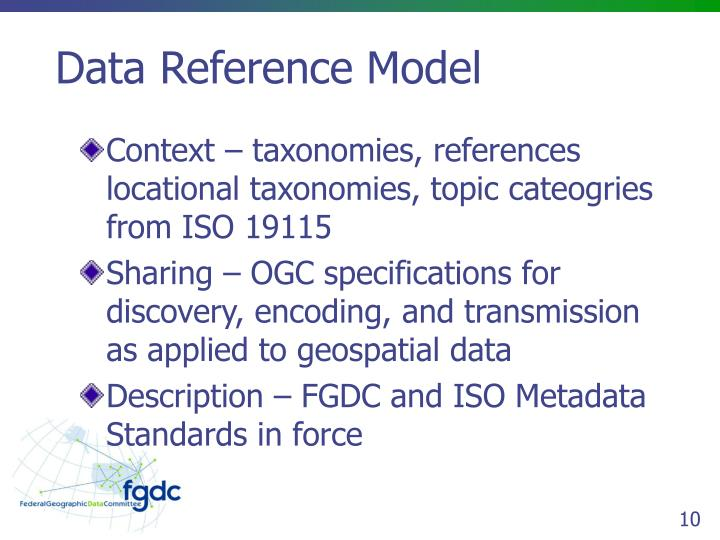 Data Reference Model