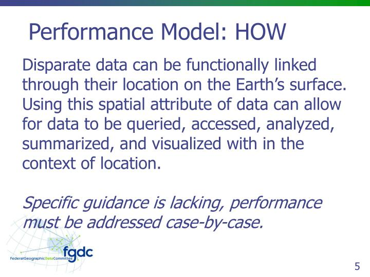 Performance Model: HOW