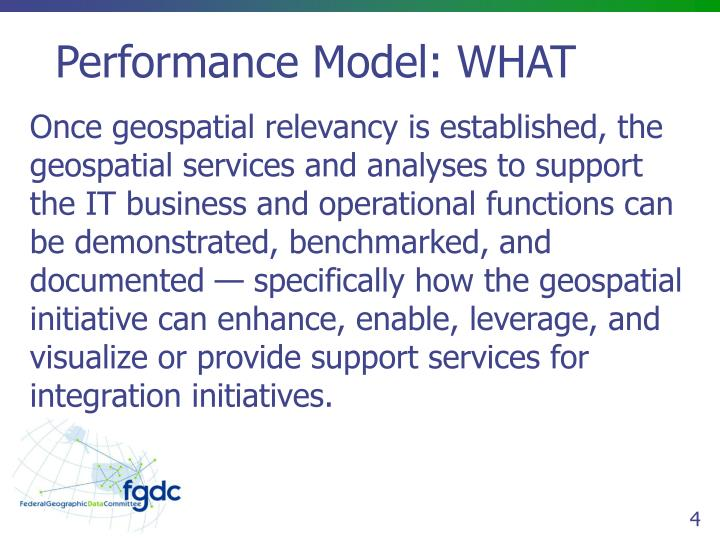 Performance Model: WHAT