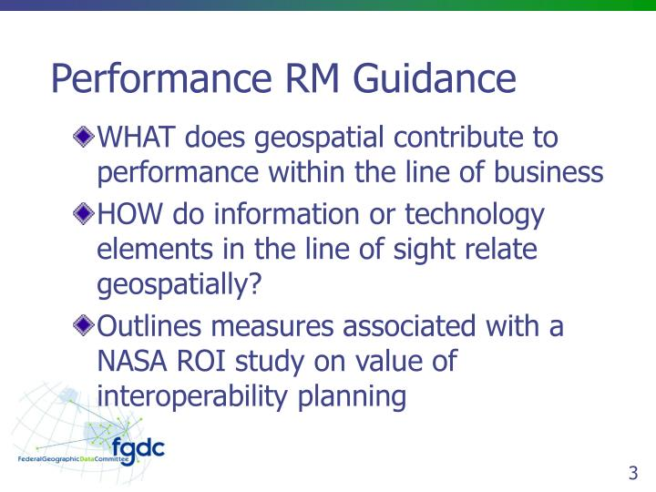 Performance RM Guidance