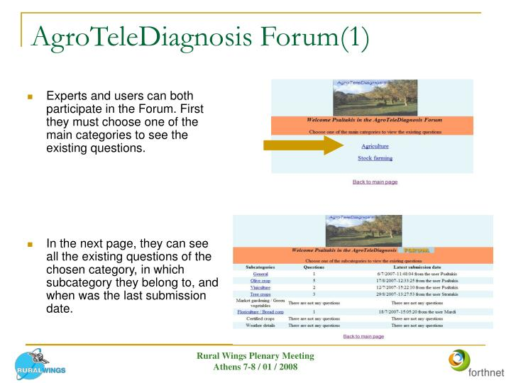 AgroTeleDiagnosis Forum(1)