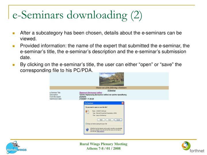 e-Seminars downloading (2)