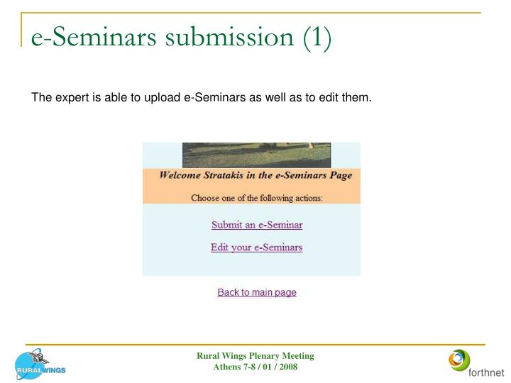 e-Seminars submission (1)