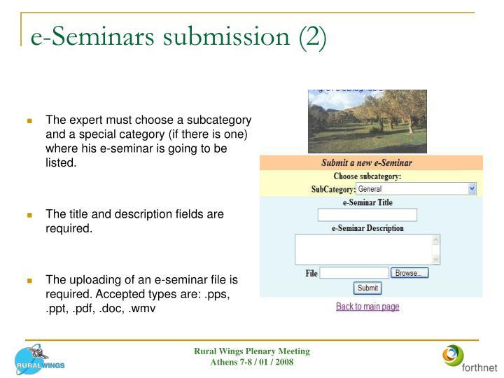 e-Seminars submission (2)