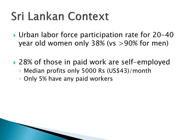 Sri Lankan Context