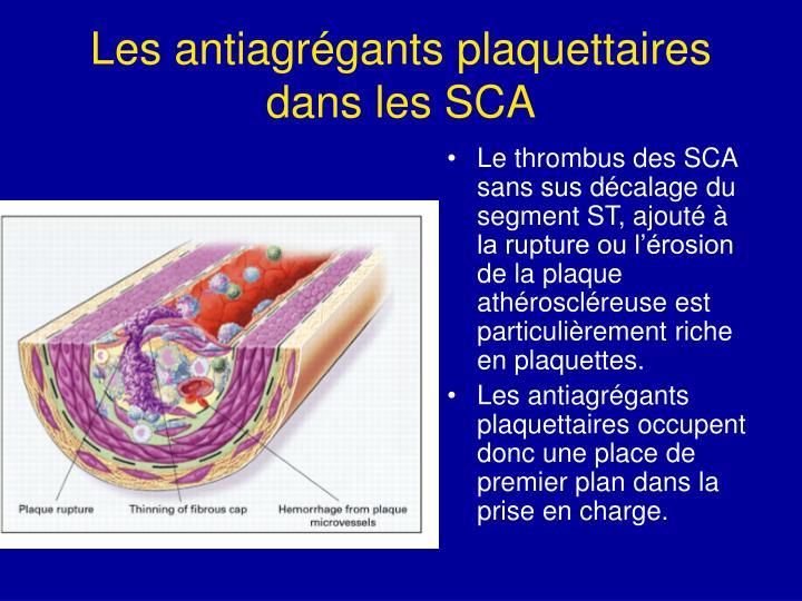 Les antiagrégants plaquettaires dans les SCA