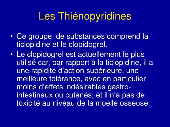 Les Thiénopyridines