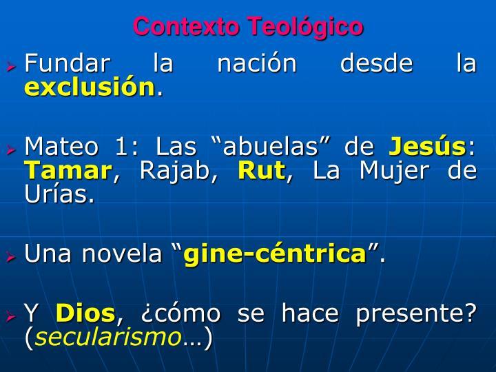 Contexto Teológico