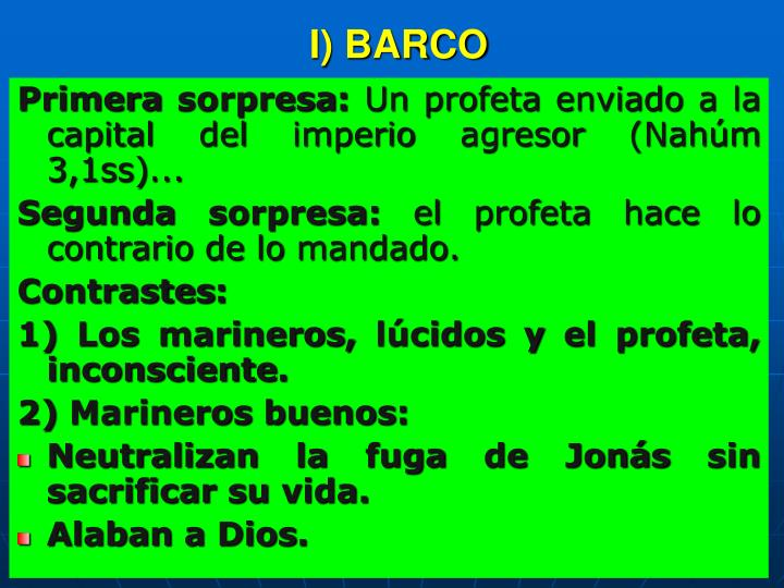I) BARCO
