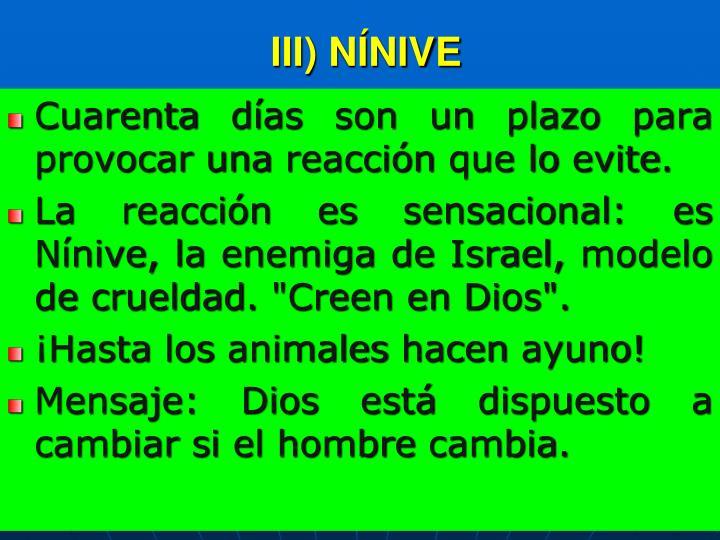 III) NÍNIVE