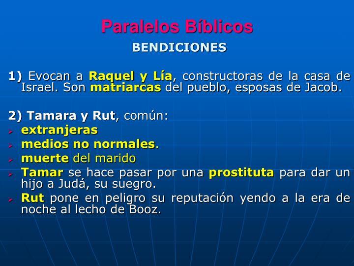 Paralelos Bíblicos